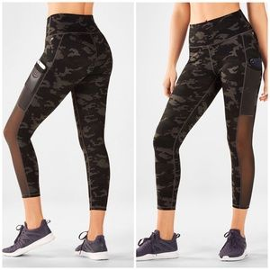 NWT Fabletics High rise camo power hold leggings